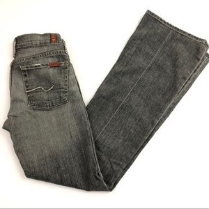 7 For All Mankind Flare Jeans Distressed